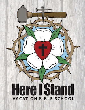 Logo for Here I Stand VBS